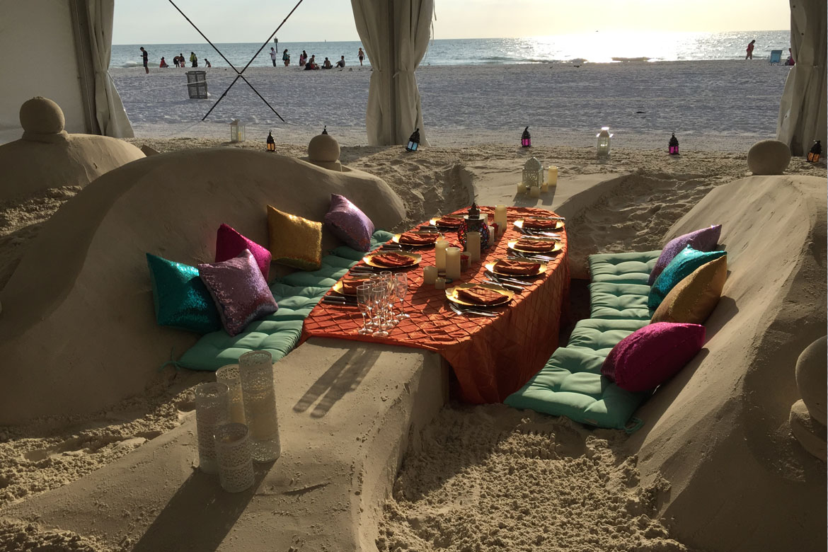 Sand table and seats