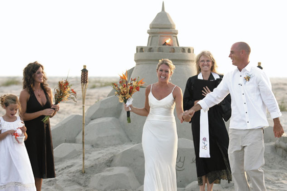 lighthouse beach sand sculpture Florida weddings on the beach