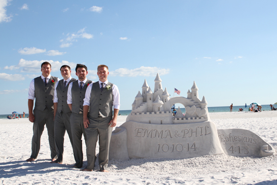Beach wedding sand castle scultpure company Clearwater, Florida USA
