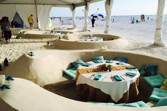 Dine-In Sand Sculptures