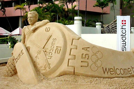 Swatch Sculpture Duke and USA