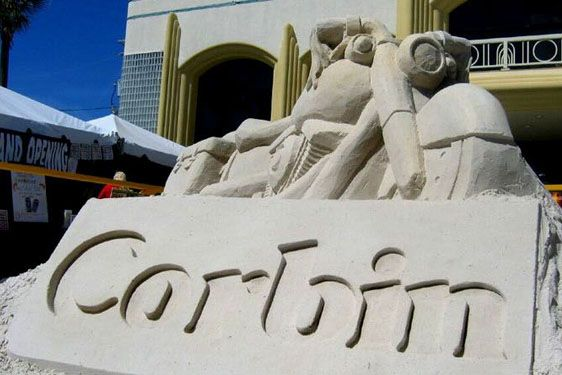 Outside Sand Sculpture